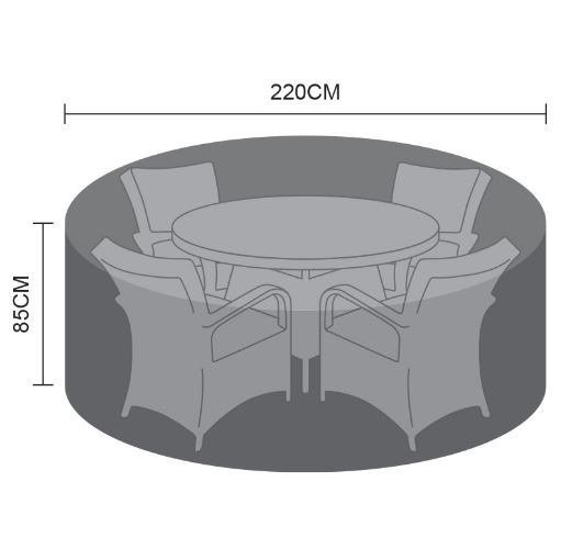 Cover Pack For Chimes 4 Seater Round Dining Set
